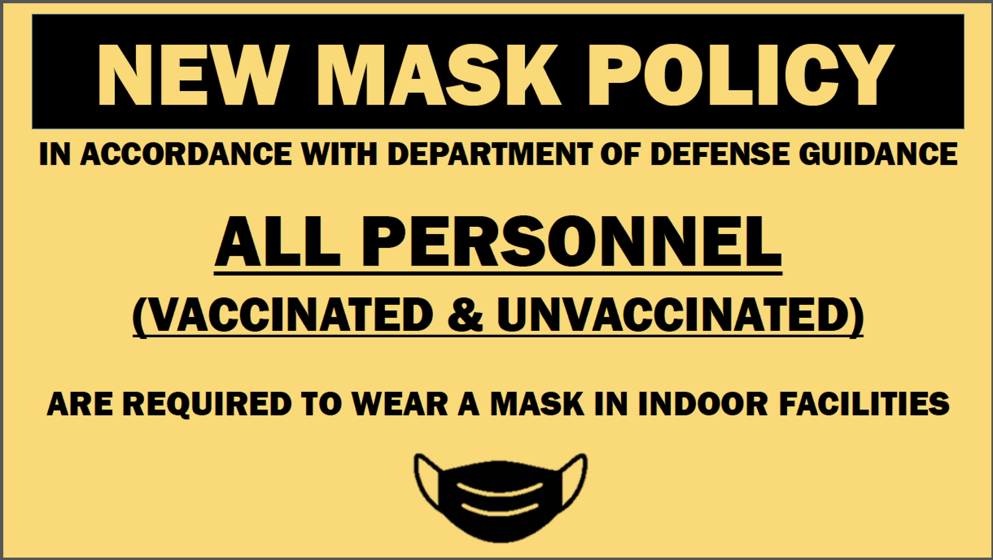 New Mask Policy image